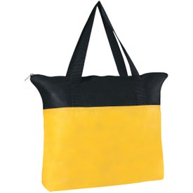 Customizable Non-woven Zippered Tote Bag Printed with Your Logo