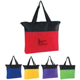 Customizable Non-woven Zippered Tote Bag
