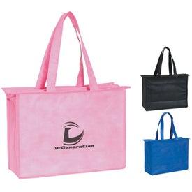 Advertising Non-woven Zippered Tote Bag