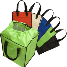 Non-Woven Drawstring Grocery Tote for Marketing