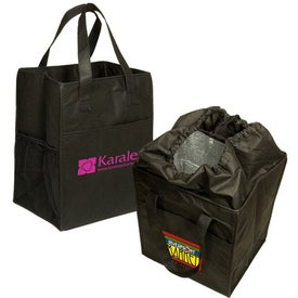 Branded Non-Woven Drawstring Grocery Tote