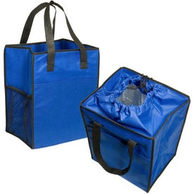 Non-Woven Drawstring Grocery Tote with Your Slogan