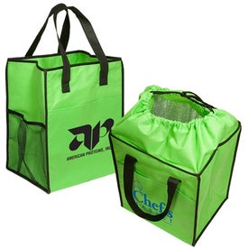 Non-Woven Drawstring Grocery Tote Giveaways