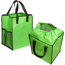 Personalized Non-Woven Drawstring Grocery Tote