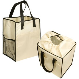 Non-Woven Drawstring Grocery Tote Printed with Your Logo