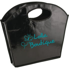Oval Handle Laminated Tote Bag