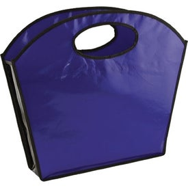 Oval Handle Laminated Tote Giveaways