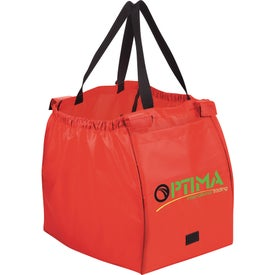Imprinted Over the Cart Grocery Tote Bag