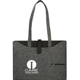 Owl 100% Recycled Felt Business Tote with Your Slogan