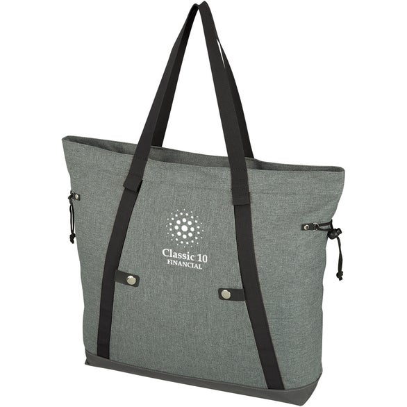 Gray / Black Oxford Tote Bag
