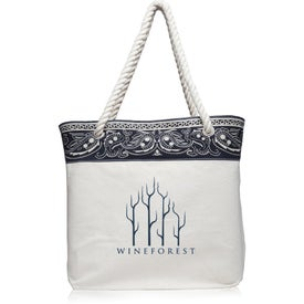 Paisley Pattern Canvas Tote Bag
