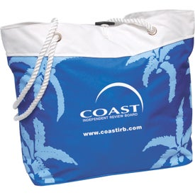 Palm Tree Rope Tote Imprinted with Your Logo