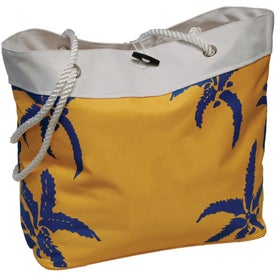 Palm Tree Rope Tote for Customization