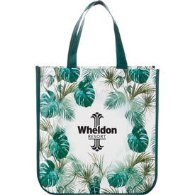Palms Laminated Shopper Tote Bag
