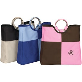 Promotional Patchwork Grommet Tote Bag