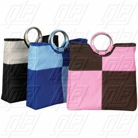 Patchwork Grommet Tote Bag