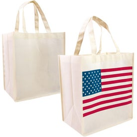 Personalized Patriotic Nonwoven Tote