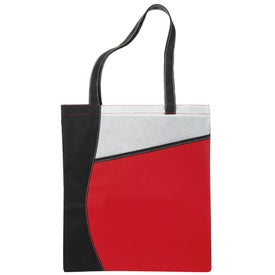 Printed Pattern Curve Non-Woven Tote
