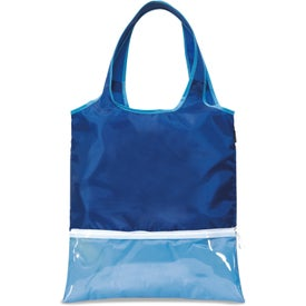 Piazza Foldaway Shopper Tote Bag with Your Slogan