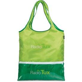 Monogrammed Piazza Foldaway Shopper Tote Bag