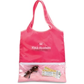 Customized Piazza Foldaway Shopper Tote Bag