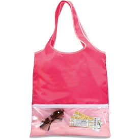 Monogrammed Piazza Foldaway Shopper Tote Bag