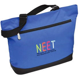 Plaza Tote Bag with Front Zipper Pocket Printed with Your Logo