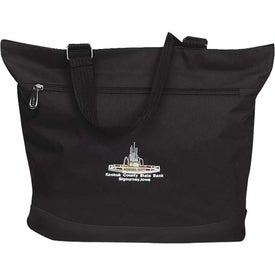 Plaza Tote Bag with Front Zipper Pocket Branded with Your Logo