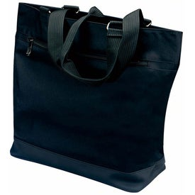 Plaza Tote Bag with Front Zipper Pocket for Your Company