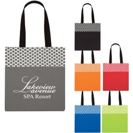 Polka Dot Accent Tote Bag