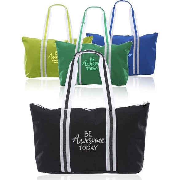 Blue Polycanvas Sport Tote Bag