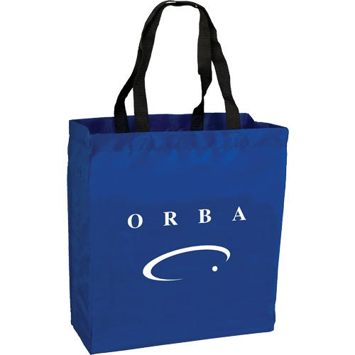 Blue Polyester Trade Show Tote