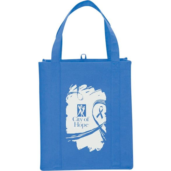 Ocean Blue Big Grocery Non-Woven Tote Bag