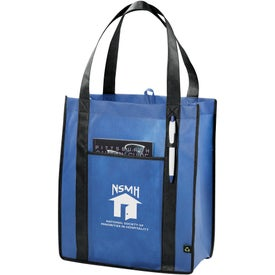 Contrast Non-Woven Carry-All Tote Bag