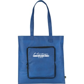 Foldable Non-Woven Convention Tote Bag