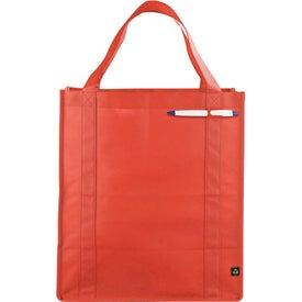 Branded PolyPro Large Foldable Snap Tote