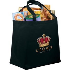 PolyPro Non-Woven Budget Shopper Tote Bag Branded with Your Logo