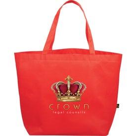 Imprinted PolyPro Non-Woven Budget Shopper Tote Bag