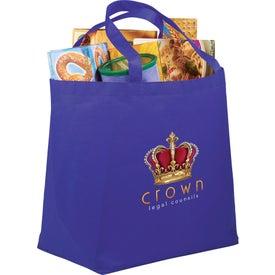 Printed PolyPro Non-Woven Budget Shopper Tote Bag