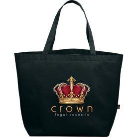 Custom PolyPro Non-Woven Budget Shopper Tote Bag
