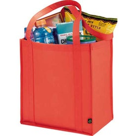 Printed PolyPro Non-Woven Little Grocery Tote Bag