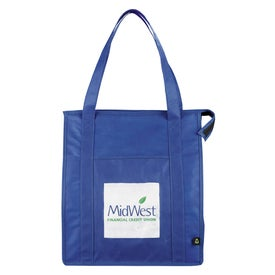 Monogrammed PolyPro Non Woven Zippered Big Grocery Tote