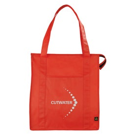PolyPro Non Woven Zippered Big Grocery Tote Giveaways