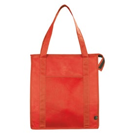 Customized PolyPro Non Woven Zippered Big Grocery Tote