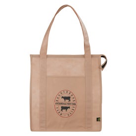 Imprinted PolyPro Non Woven Zippered Big Grocery Tote