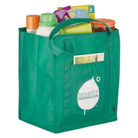 PolyPro Non Woven Zippered Big Grocery Tote with Your Logo