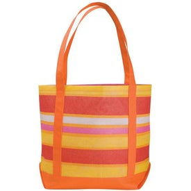 Monogrammed Poly Pro Patterned Boat Tote Bag