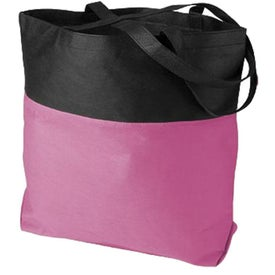 Branded Poly Pro Two-Tone Tote Bag
