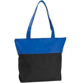 Poly Pro Two-Tone Zippered Tote Bag with Your Logo
