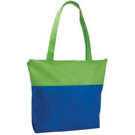 Personalized Poly Pro Two-Tone Zippered Tote Bag